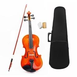 MyXL 1/8 Size Akoestische Viool met Fijne Case Bow Rosin voor Leeftijd 3-6 M8V8