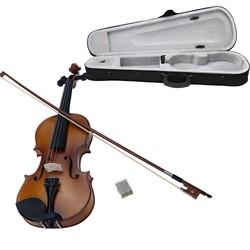 MyXL 4/4 Full Size Viool Fiddle Basswood Staal String Snaarinstrument voor Kids Beginners Cirkel Stijl Boog