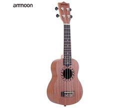 Ammoon Ukulele 21 Mini Akoestische Gitaar Sapele Concert Ukelele 15 Frets 4 Gitaar String Instrument