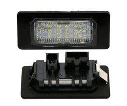 2x MK6 JETTA/B7 PASSAT/B8 AUDI A4/A5/Q5 Auto LED Kentekenverlichting 12 V SMD3528 Nummerplaat Lamp Kit Voor AUDI Porsche