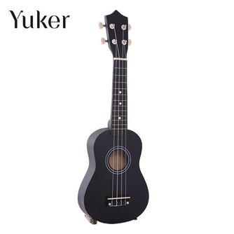 Yuker 21 Inch Mini Professionele Zwarte Vintage Akoestische Sopraan Gitaar Ukulele Muziekinstrument Voor School Muziek Leerling