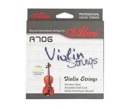 Alice Professionele A706 Vioolsnaren Stranded Steel Core Geïmporteerd Roestvrij staal Een Set voor Viool Maat 4/4 3/4 1/2 1/4 1/8