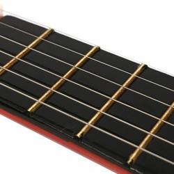 """MyXL Senrhy 23 """"6-String Rode Houten Folk Akoestische Gitaar Ukulele voor Ukelele Muziekinstrumenten Liefhebbers Beginners + Draad Snaren"""