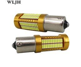WLJH 2x Canbus Led 20 W 1156 BA15S P21W S25 Bulb 4014SMD auto Lamp DRL Dagrijverlichting voor Volkswagen VW T5 T6 TRANSPORTER