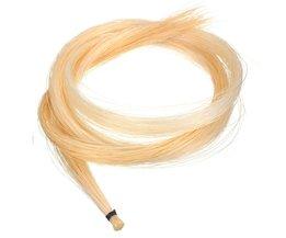 1 st Wit Hank 80 cm 32 Inch Mongoolse Viool/Altviool/Cello Boog Haar Paardenhaar Viool Onderdelen Accesoires