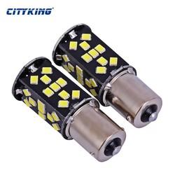 MyXL 10 stks/partij Super Heldere Wit High Power 21 W 1156 48led 2835 SMD ba15s 1156 Led-lampen Voor Rem, DRL, Richtingaanwijzer, Backup Lights