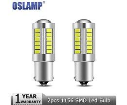 Oslamp 2 stks 1156 BA15S Led Auto Lampen Witte 6000 K DC12v Klaring Light Break Light Knipperlichten Backup Reverse licht