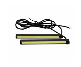 2 Stks/set SUNKIA Hoge Heldere COB DRL LED 10 cm Dagrijlicht Auto Mistlamp COB Licht 100% Waterdicht