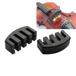 MyXL Akoestische Elektrische Zware Zwarte Rubber Viool Silencer Viool Praktijk Mute Viool Onderdelen & Accessoires