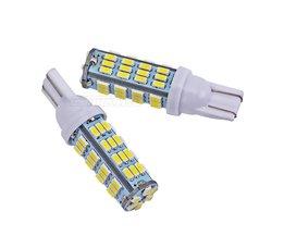 2 stks T10 54LED SMD Auto Lamp Auto Auto LED T10 led Lamp194 W5W led 3014 smd Wedge Gloeilamp T10 54SMD Wit licht