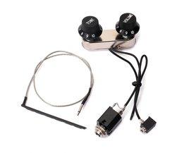 Gitaar Viool Pickup Piezo Transducer Bridge Set met Tone Volumeknop