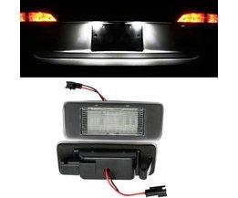 HOPSTYLING 2x Wit 18 SMD LED Aantal Kentekenverlichting Module voor Opel Vauxhall Astra J Sport Tourer Estate Zafira Tourer C