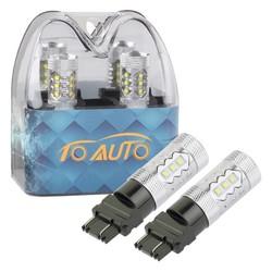 MyXL 2 stks 3156 3157 P27/7 W T25 80 W Cree LED chips Witte Lamp auto Fog Head Lamp Voertuigen Richtingaanwijzer Staart Remlichten auto licht