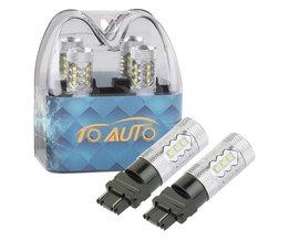 2 stks 3156 3157 P27/7 W T25 80 W Cree LED chips Witte Lamp auto Fog Head Lamp Voertuigen Richtingaanwijzer Staart Remlichten auto licht