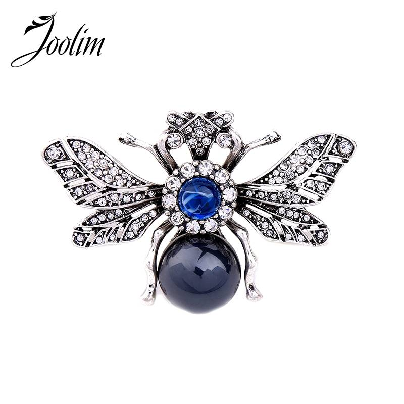 JOOLIM Sieraden Groothandel-Insect Vintage Spider Broche spyderco Pin Voor Vrouwen Kostuum sieraden