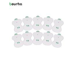 Beurha 10 Stks Witte Elektroden Digitale Voor Tientallen Acupunctuur Digitale Therapie Machine Stimulator Pad Medium Frequentie