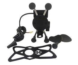 Motorfiets ATV Dirt Elektrische Fiets X Grip Mount Gsm Houder Met Usb-oplader Voor Telefoon SNS GPS