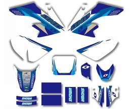 Stijl TEAM GRAFISCHE & ACHTERGRONDEN DECAL STICKERS Kits Voor HONDA CRF50 CRF50F 2004-2012 (Blauw/Wit)