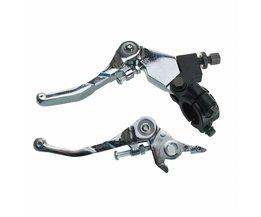 1 Paar Pit Bike Legering Vouwen Snap Brake Grip Hendel Clutch Set 110cc 125cc 140cc 160cc Chrome