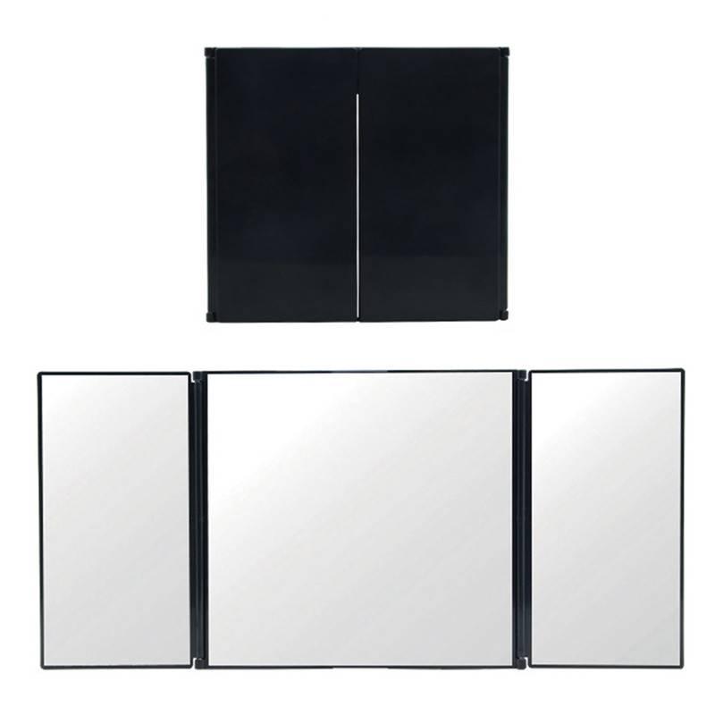 Triple Vouwen Auto-interieur Make Spiegel Zonnescherm Spiegel Decoratie