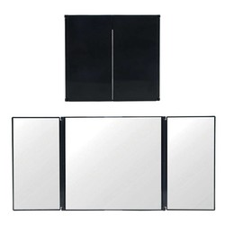 MyXL Triple Vouwen Auto-interieur Make Spiegel Zonnescherm Spiegel Decoratie
