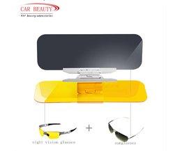 Dag En Nacht Amfibische Auto Zonneklep Cover Plaats van Zonnebril Auto dimmende Spiegel nachtzicht Bril
