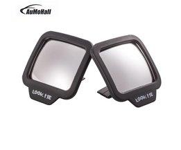 AUMOHALL 2 stks Verstelbare Blind Spot Spiegels Achteruitkijkspiegel Stok Groothoek Auto Rv Truck van Zijaanzicht Bolle zelf adhesive