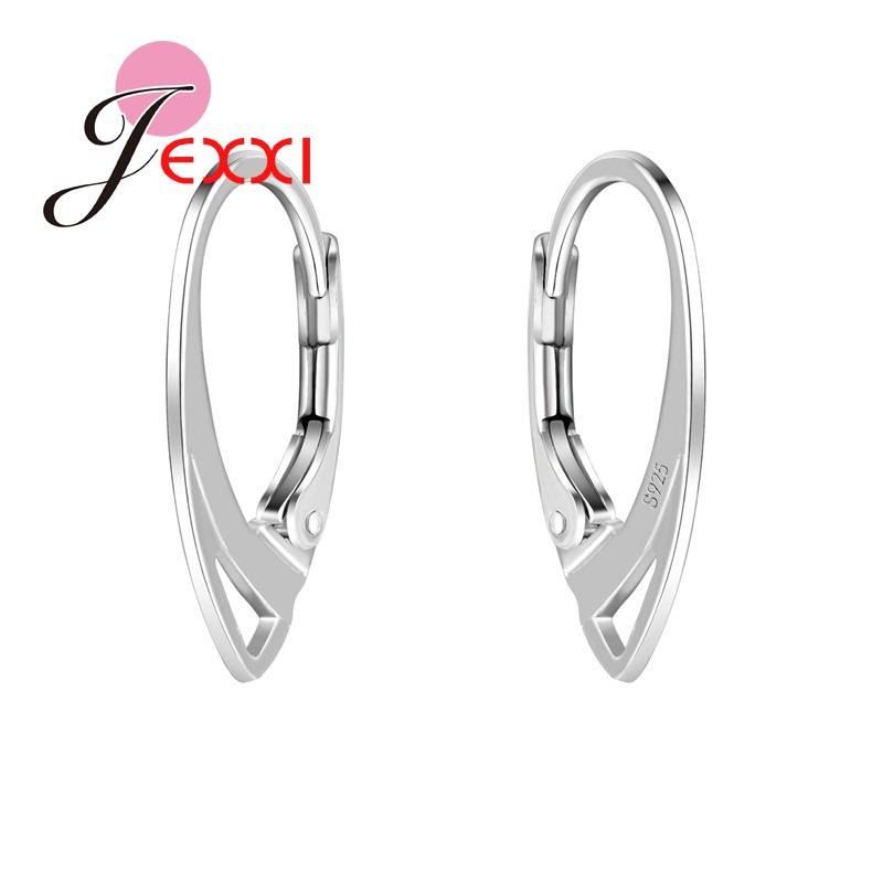 JEXXI50 Pairs DIY Maken Sieraden Oorbel Haak Bevindingen 925 Sterling Zilver Accessoire Deel Compone
