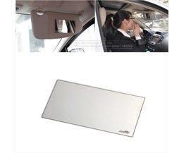 15X8 cm Auto Make Spiegel Auto zonwering Rvs Spiegel Auto Cosmetische Spiegel Auto-interieur spiegel
