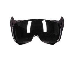 Gxt 288 lederen motorhelm gezicht shield vervanging vizier lens licht zilver spiegel schild
