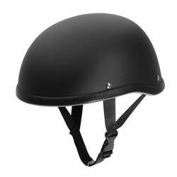 MyXL Matte Black Motorfiets Half Helm Schedel Cap Lage Profiel Nieuwigheid Voor Harley Chopper
