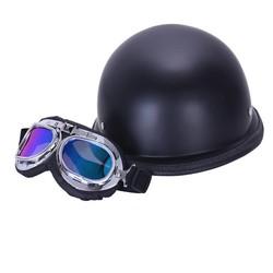 MyXL stijlvolle wwii vintage duitse helm half gezicht moto motorfiets motocicleta capacete met gratis bril mannen volwassen