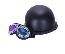 stijlvolle wwii vintage duitse helm half gezicht moto motorfiets motocicleta capacete met gratis bril mannen volwassen