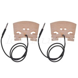 MyXL Elektrische Viool Brug met Intern Piezo Pickup voor 4/4 Viool Bridge 2 Stks