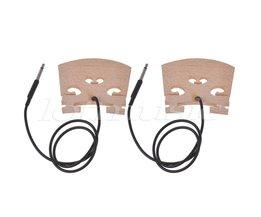 Elektrische Viool Brug met Intern Piezo Pickup voor 4/4 Viool Bridge 2 Stks