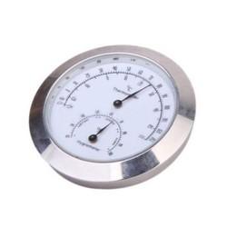 MyXL YukerLegering Zilveren Ronde Vochtigheid Vocht Thermometer Hygrometer Case Voor Gitaar Viool Bas Nuttig Draagbare