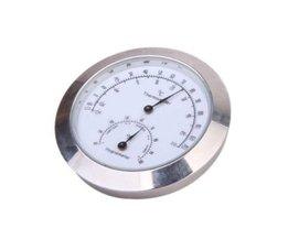 YukerLegering Zilveren Ronde Vochtigheid Vocht Thermometer Hygrometer Case Voor Gitaar Viool Bas Nuttig Draagbare