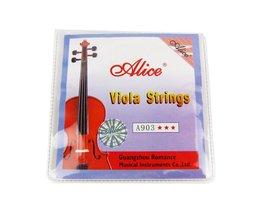 Alice 4 Strings Altvoolsnaar Set Staal Core Snaren voor 4/4 size's Viola