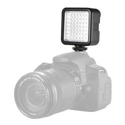 MyXL Andoer W49 Mini Interlock Camera Led-paneel Licht Camcorder Video verlichting Met Schoen Mount Adapter voor Canon Nikon Sony A7 DSLR