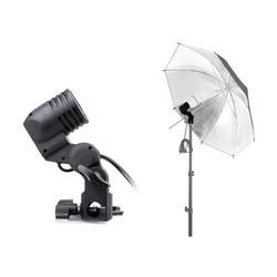 MyXL Continu licht Studio Flash accessoires LH-01 AC Slave Licht E27 Socket met Paraplu Houder Softbox Light Stand Mount