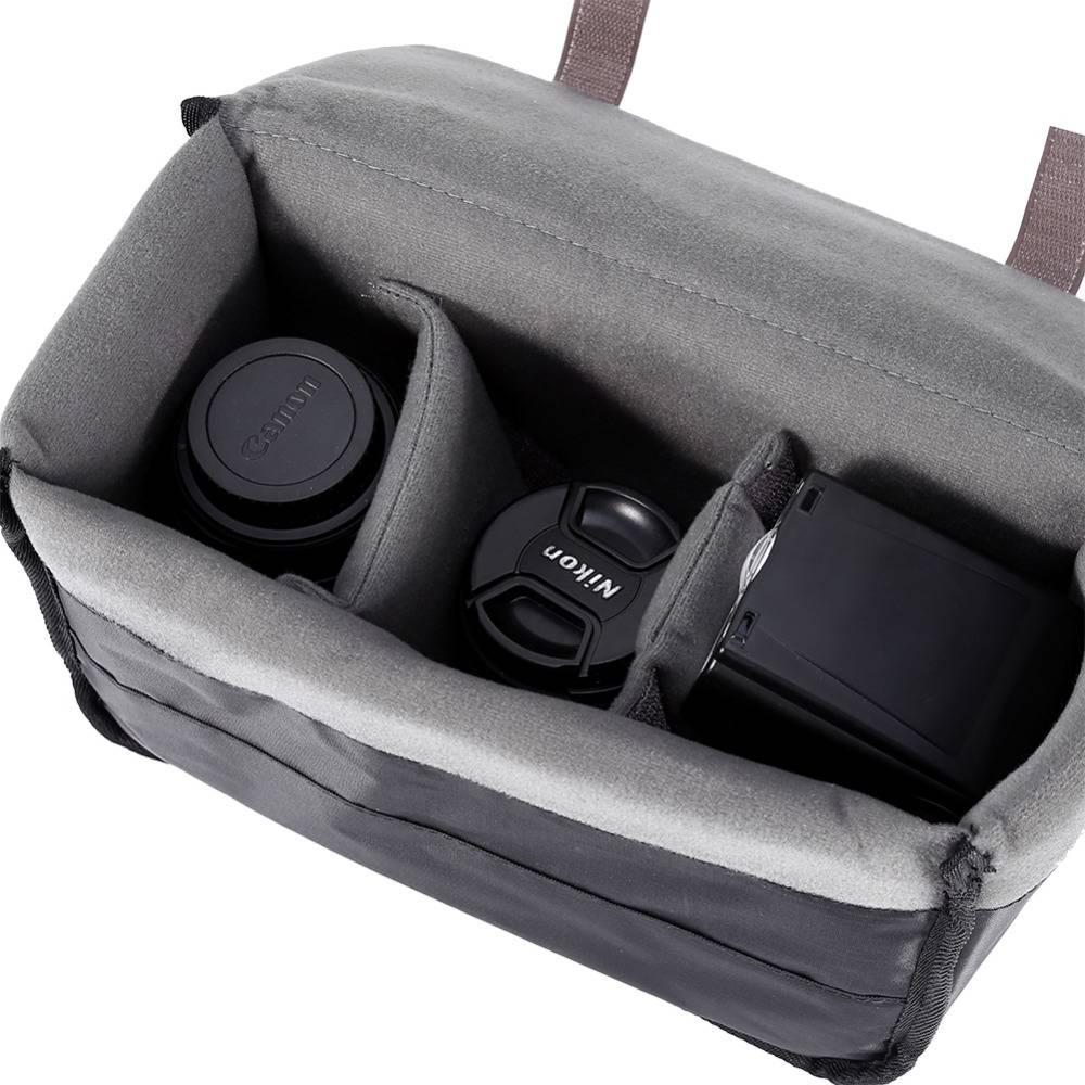 Camera Insert Gevoerde Tas Case voor DSLR Folding Divider Partitie Beschermhoes Tas