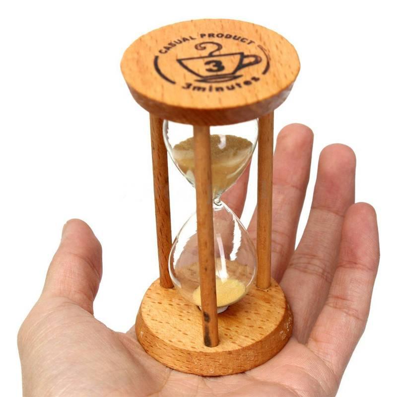 3 Minuten Houten Frame Zandloper Zand Glas Zandloper Timer Klok Countdown Timing Woondecoratie Burea