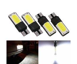 10 st Canbus Foutloos T10 LED Interieur Lamp 194 168 W5W Kenteken Backup Licht Rem Auto Wit COB Auto Lampen