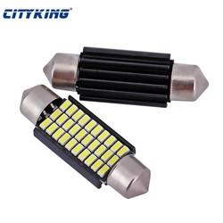 MyXL 2 X Canbus led festoen Geen fout 3014 30 smd Festoen 39mm LED Auto Dome led Auto C5W Bulb auto led bron