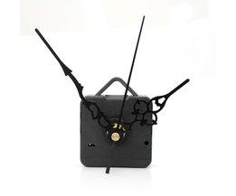 Retro Stille Modus DIY Zwart Quartz Wandklok Beweging Mechanisme onderdelen Reparatie Tool Zwarte Hand Werk Lange Spindel Kit met Washer
