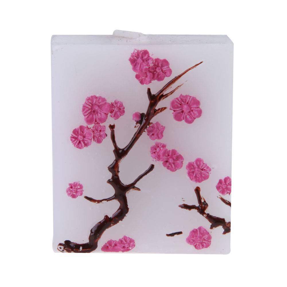 Party Bruiloften Decoratie Handgemaakte Sakura Kaars Gom Hars Kaarsen Bruiloft Woondecoratie Kaars V