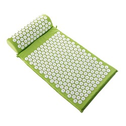 MyXL Back and Neck Pain Relief - Acupressure Mat and Pillow Set - Relieves Stress, Back, Neck, and Sciatic Pain Massage PL409