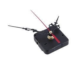 Thuisgebruik Mute Uurwerk Quartz Klok Mechanisme Kit Spindel Mechanisme Schacht 12mm met Handen met Retail doos