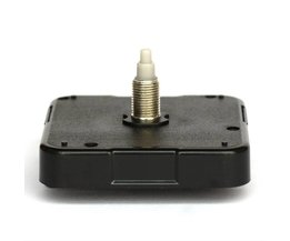 12888 11mm schroef lengte Klok Accessoire Quartz Plastic Sweep Beweging Met Zwarte Klok Handen 92 # DIY Klok Kits
