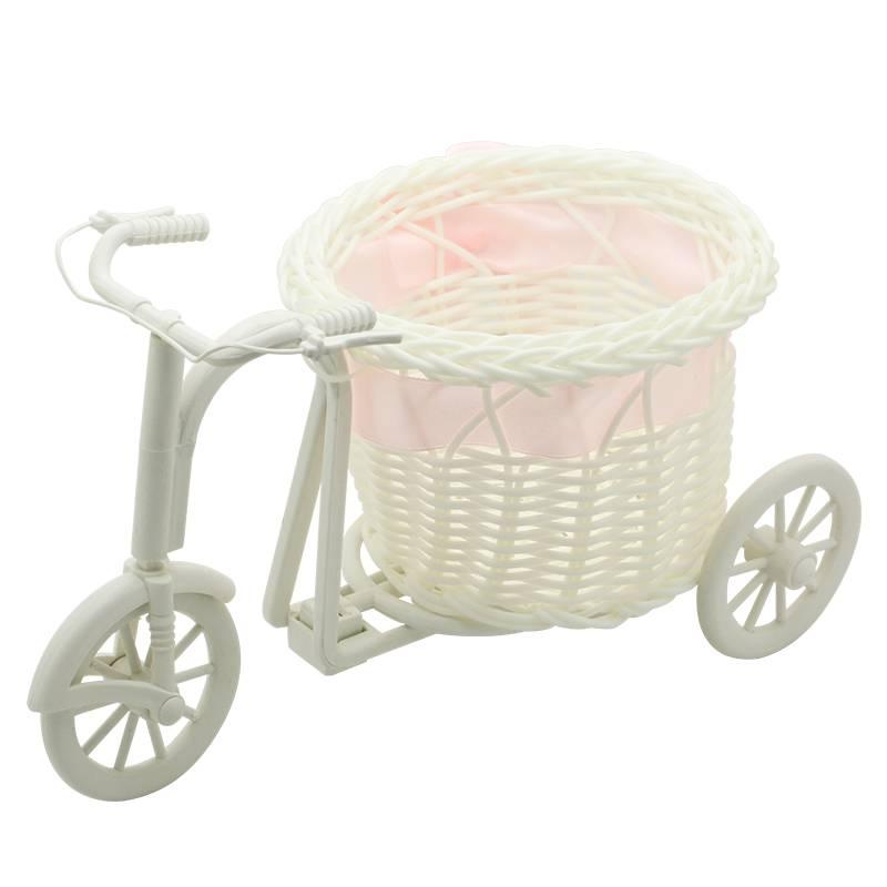 roze Bike Rotan Vaas Mand Bloemen Meter Strik Bloemenvaas Bloempotten Containers